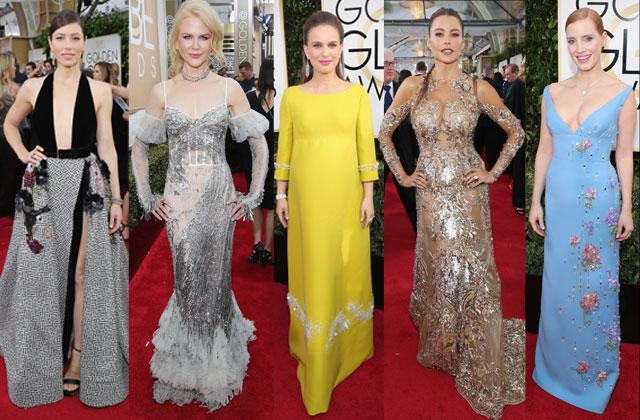 Golden Globes Awards Red Carpet Arrivals 2017 Pics