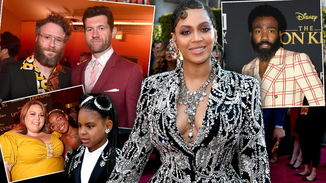 Beyonce & Celebrities Stun At 'The Lion King' Red Carpet Premiere