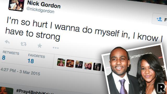 //bobbi kristina brown nick gordon desperate tweets PP