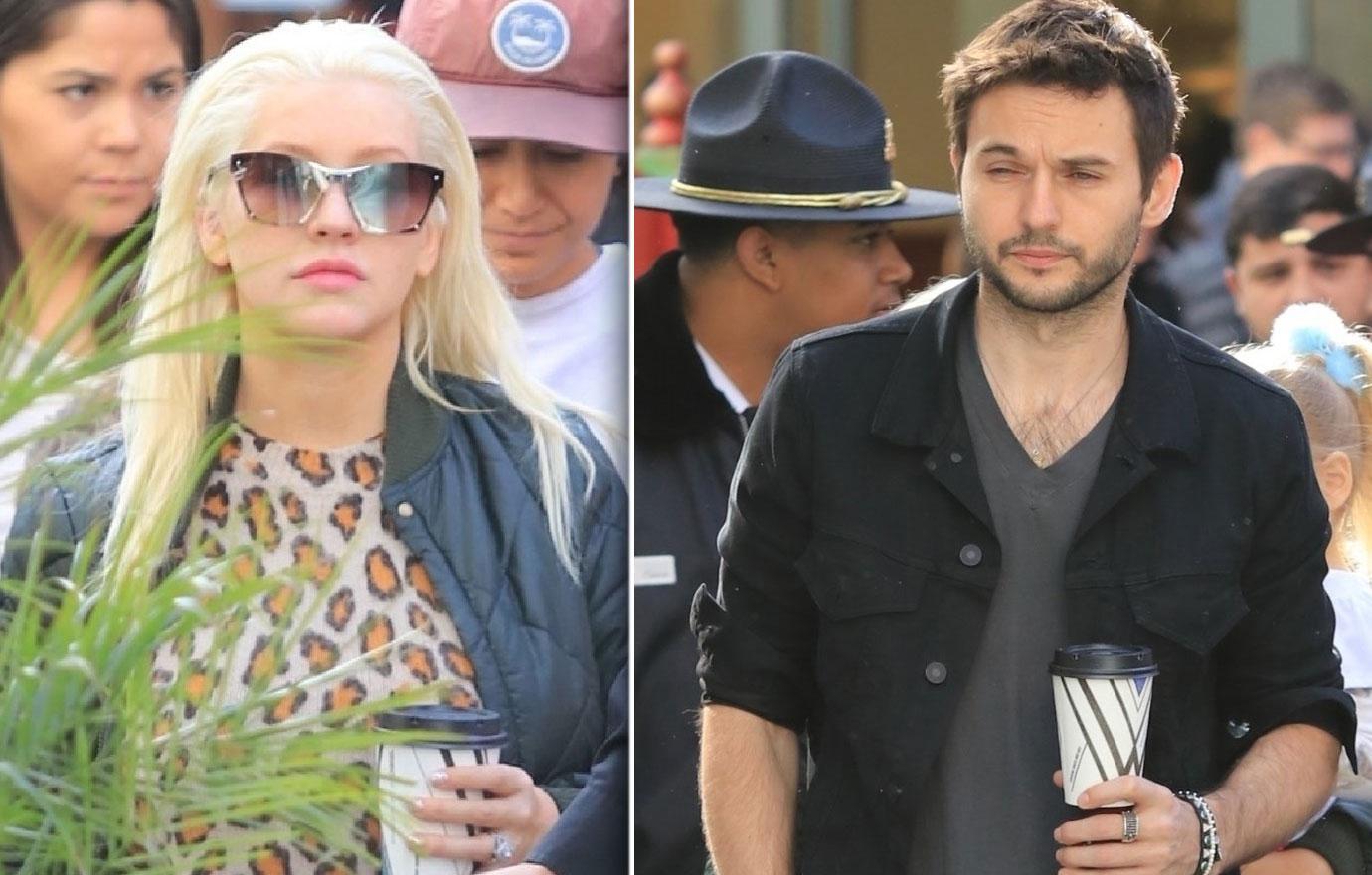 Christina Aguilera And Fiance Matthew Rutler Take Kids To Mall