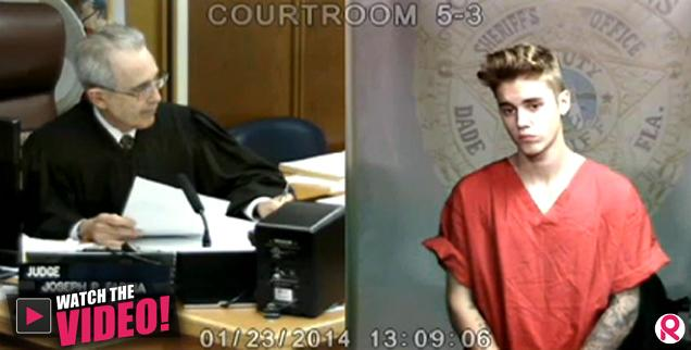 //justin bieber in court arrested drag racing bail  wide
