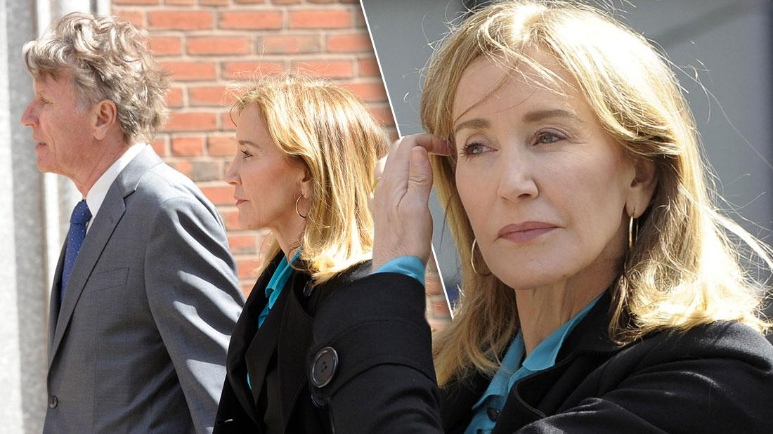Felicity Huffman Arrives In Boston Court To Face Charges In College Admissions Scandal