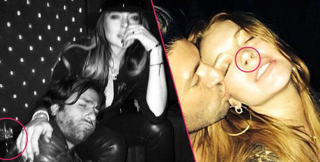 //lindsay lohan cant hide the signs of her party life