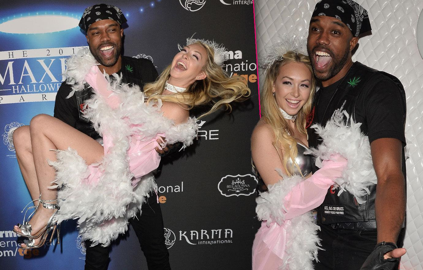 DeMario Jackson Picks Up Corinne Olympios Halloween Party Bikini