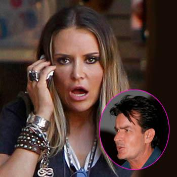 Charlie Sheen pack bags Brooke Mueller