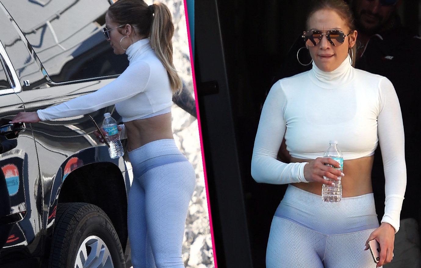 Jennifer Lopez Flaunts Curves Workout In Miami