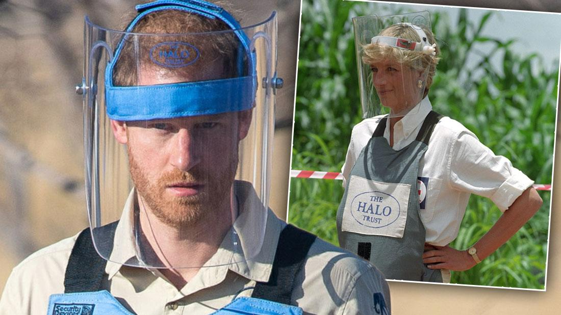Prince Harry Follows Diana's Footsteps With Angola Landmine Visit