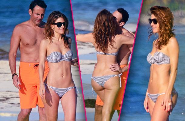 //maria menounos bikini body butt mexico pp