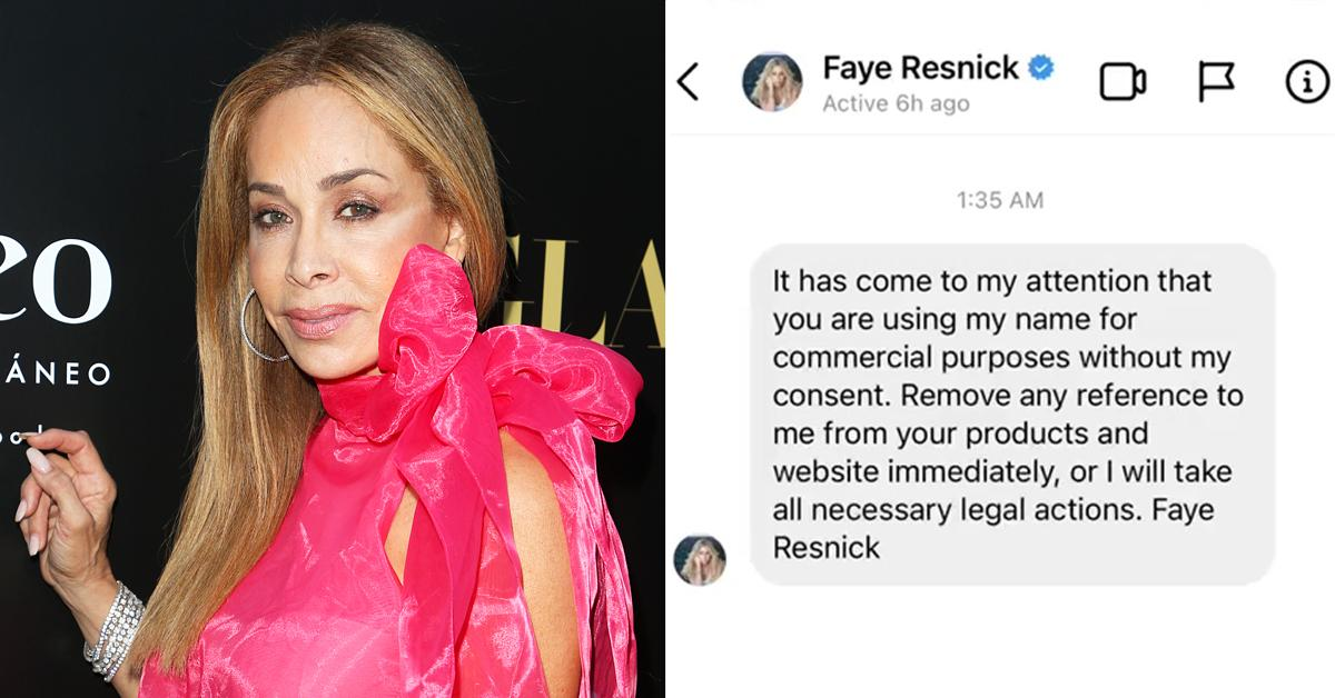 faye resnick rhobh threatens legal action bravo blogger morally corrupt merchandise rf