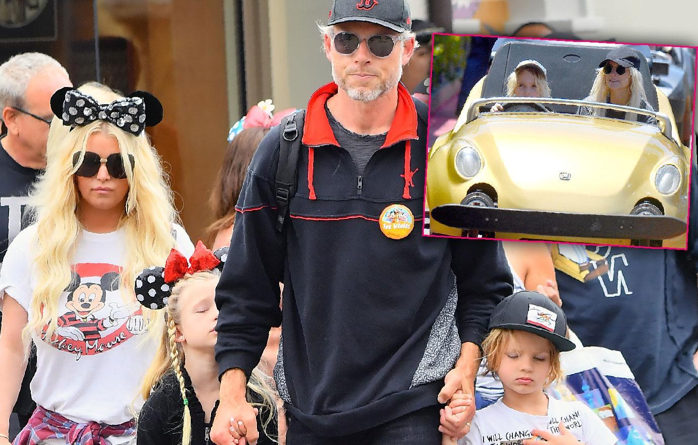 Jessica Simpson Sister Ashlee Simpson And Kids Enjoy Disneyland