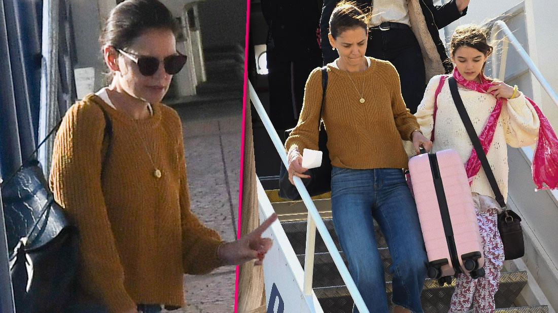 Katie Holmes Suri At Greek Airport Where's Jamie Foxx