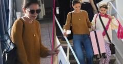 Katie Holmes Suri At Greek Airport Where's Jamie Foxx