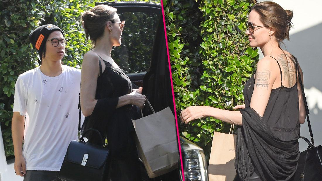 Angelina Jolie And Son Pax Lunch But Maddox Mama's Boy
