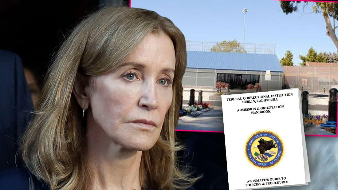 FCI Dublin in California, Felicity Huffman coming out Of Court