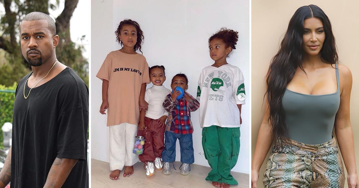 kanye west joint custody kids divorce battle kim kardashian
