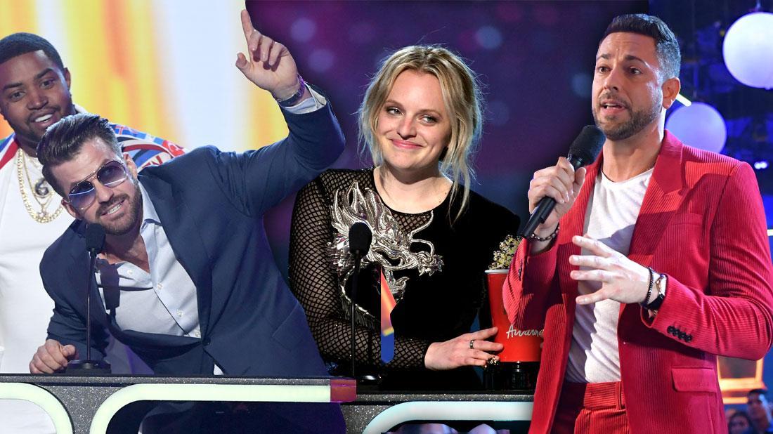 Elisabeth Moss Johnny Bananas Zachary Levi 5 Most Shocking Moments From The MTV Movie And TV Awards