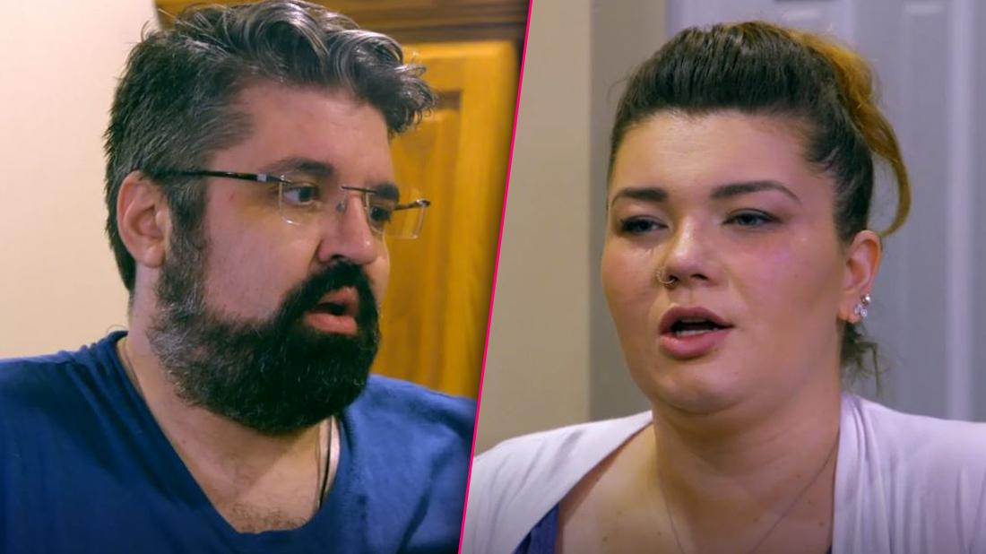 Andrew Glennon Closeup Looking Guilty and Amber Portwood Closeup Looking Angry
