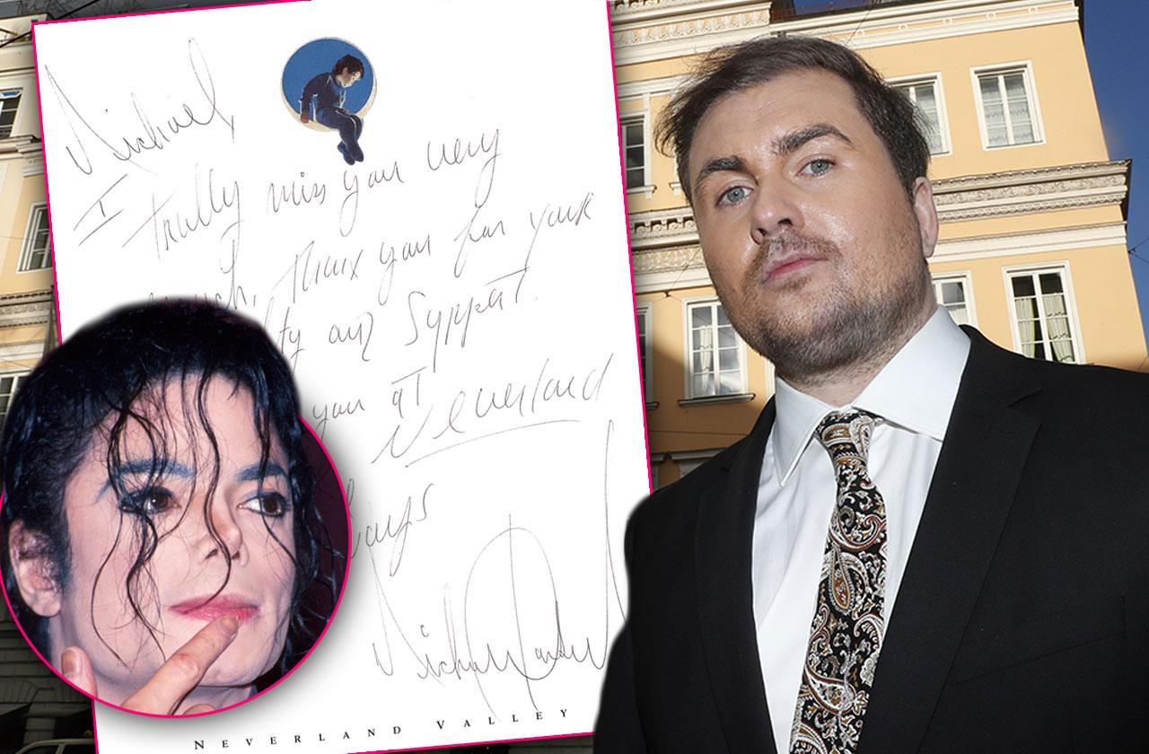 Michael Jackson Creepy Love Notes Underage Boy Michael Jacobshagen