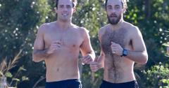 James Middleton And Spencer Matthews Shirtless Jog in St Barths