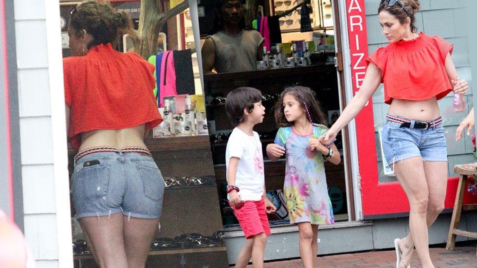 Jennifer Lopez Body Shorts Crop Top Hamptons
