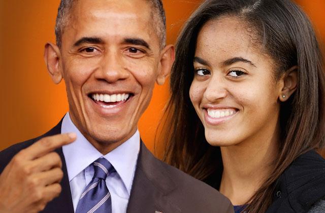 Barack Obama Malia Partying Broadway Dinner NYC