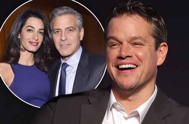 George Clooney Amal Clooney Pregnant Twins Matt Damon