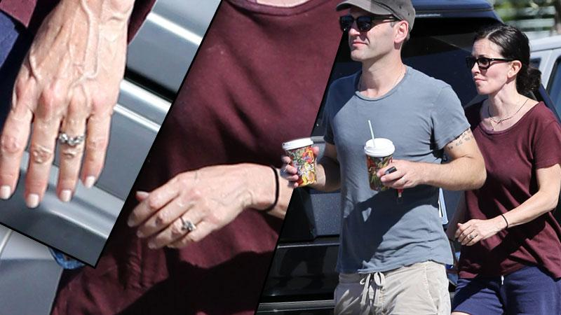 Johnny McDaid & Courteney Cox Engaged -- Engagement Ring Hiking