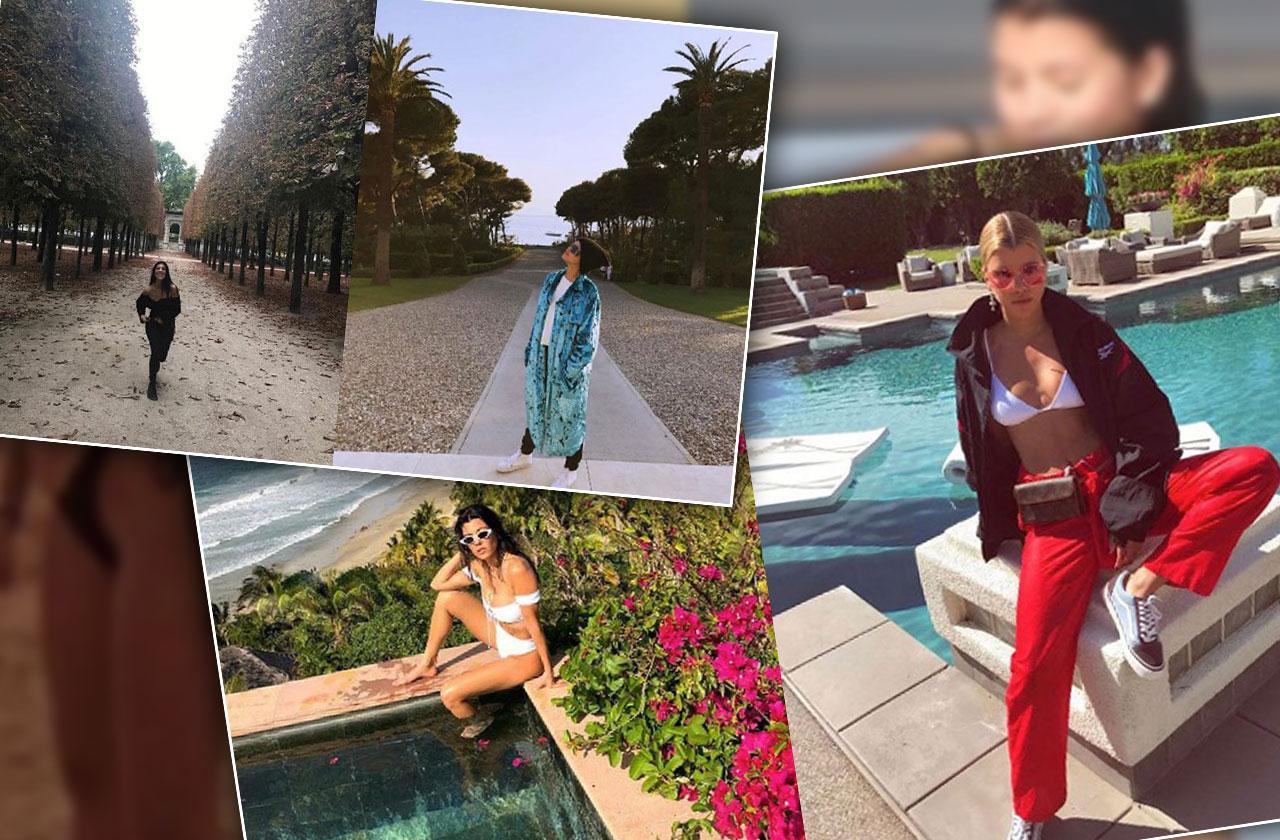 //Kourtney Kardashian Sophia Richie Feud Bikini pp