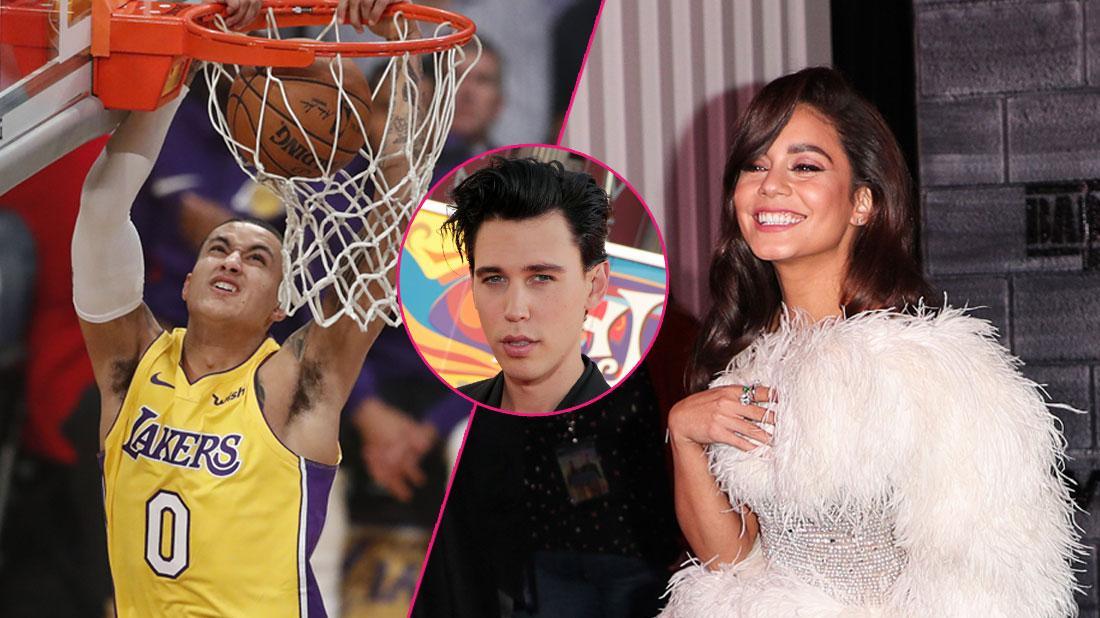 Vanessa Hudgens Cheers Kyle Kuzma In Lakers Game