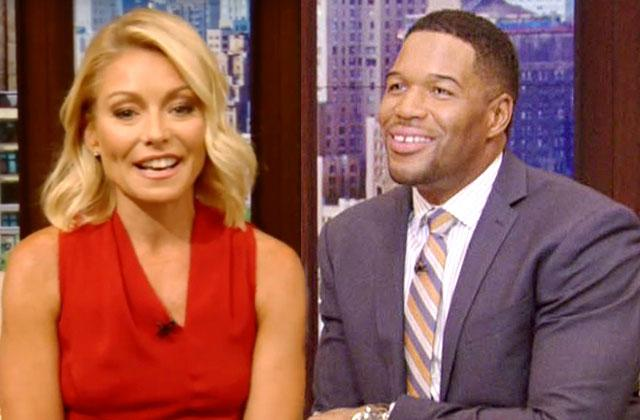 //Kelly ripa michael strahan live reunion holding hands nightmare over  pp
