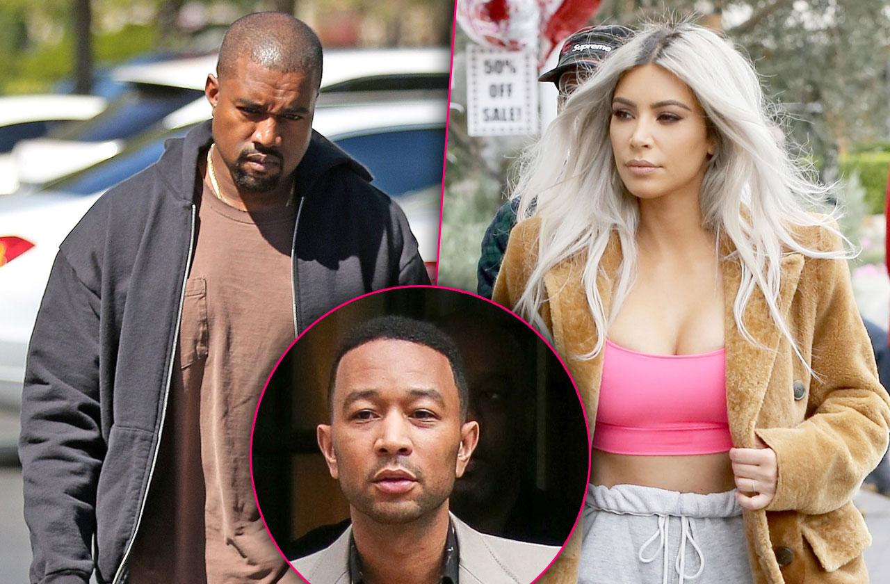 Kanye West Kim Kardashian Fight John Legend