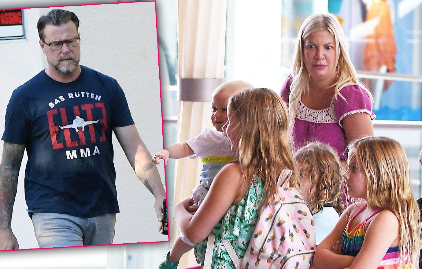 Tori Spelling And Dean McDermott Take Kids To Candytopia