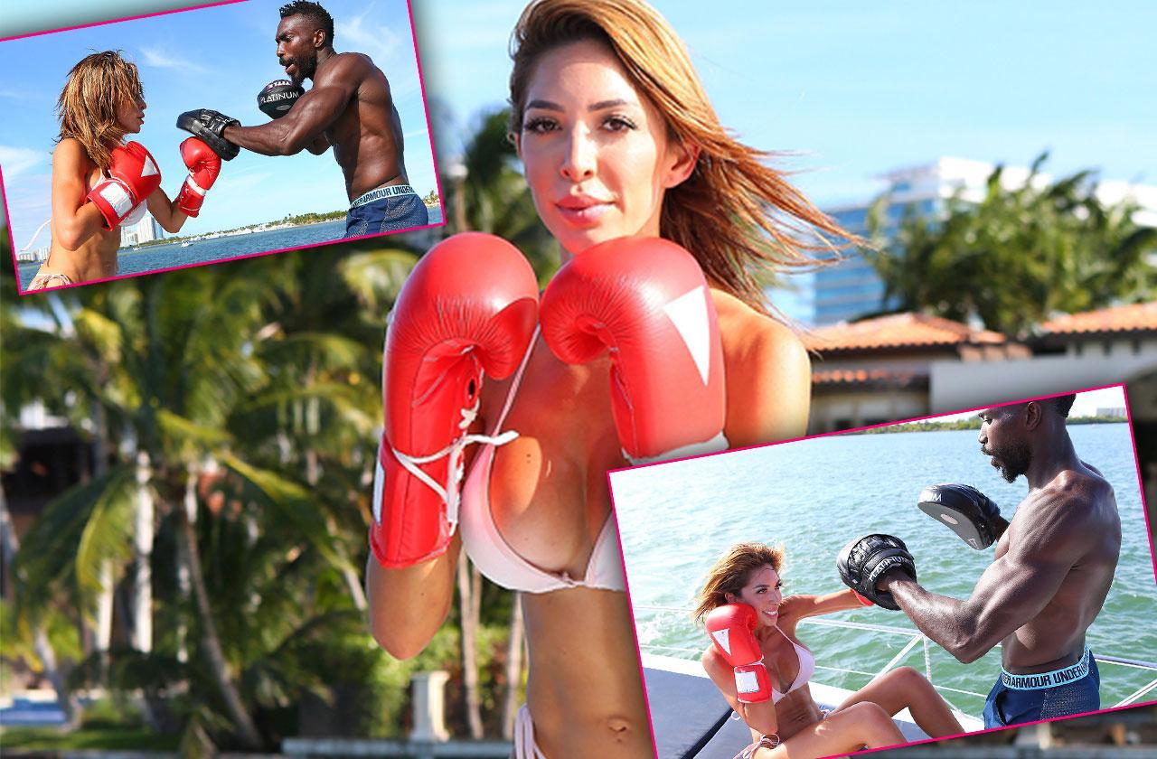 //Farrah Abraham Boxing Bikini Yacht pp