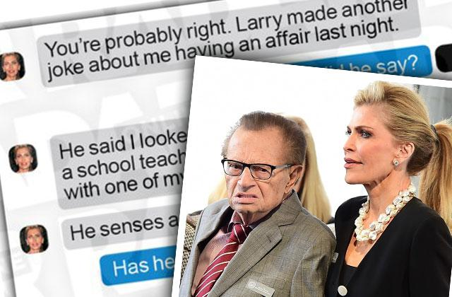 larry king shawn king cheating facebook messages divorce lawyers