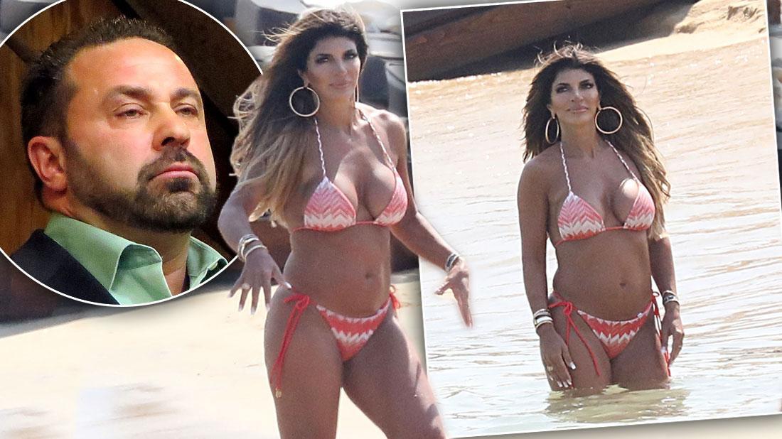 Teresa Giudice Wears Pink Bikini In Mykonos Amid Joe's Deportation