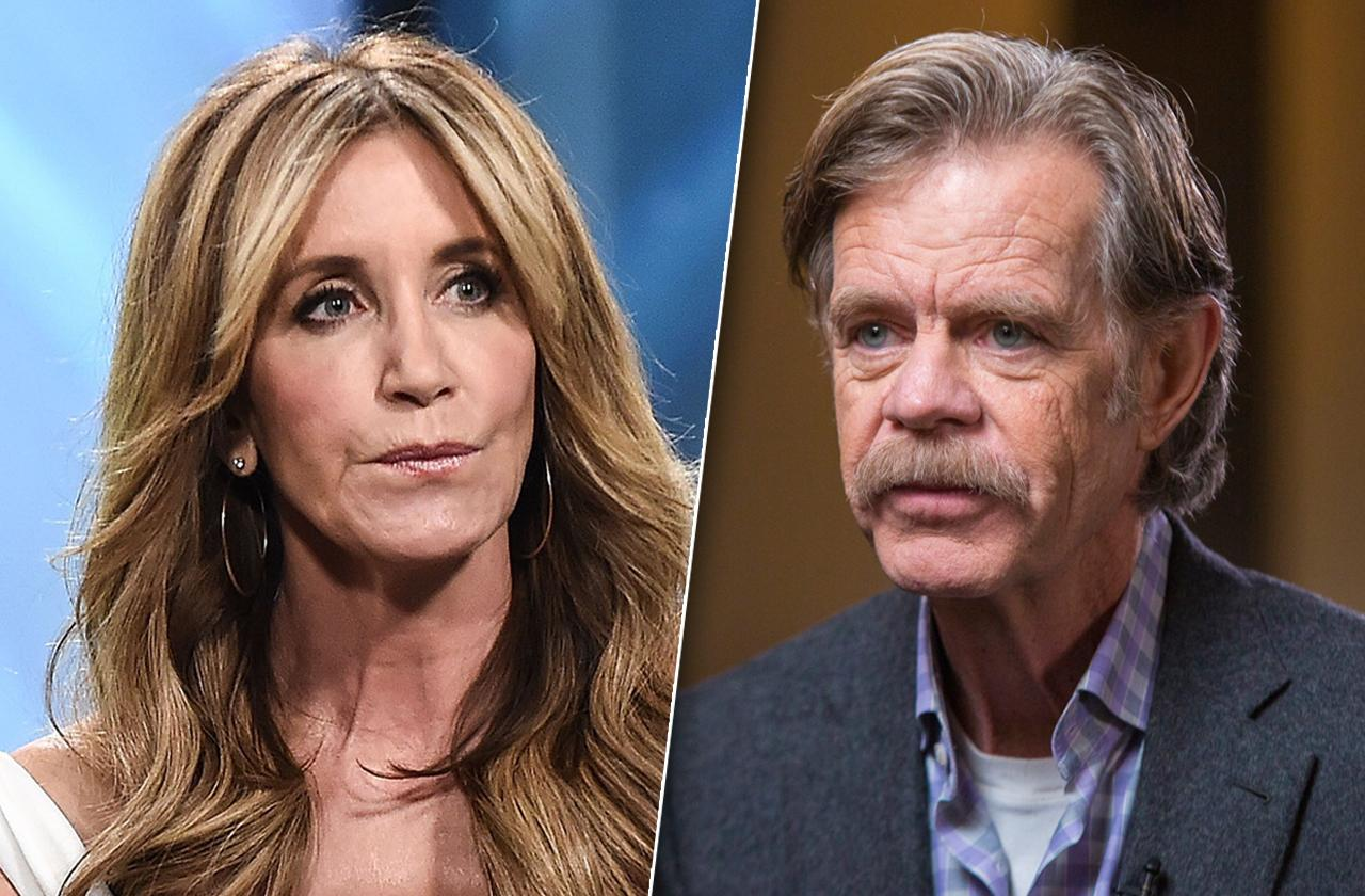 felicity huffman husband not involved william h macy college admissions scam