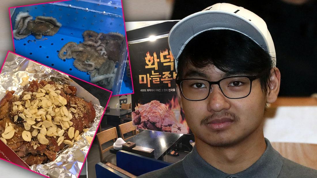 Chicken Anus, Live Octopus, Pigs Feet Inside Maddox Jloie Pitt Meals at South Korea College