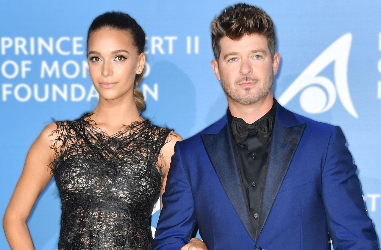 //Robin Thicke Pregnant April Love Geary Baby Bump pp