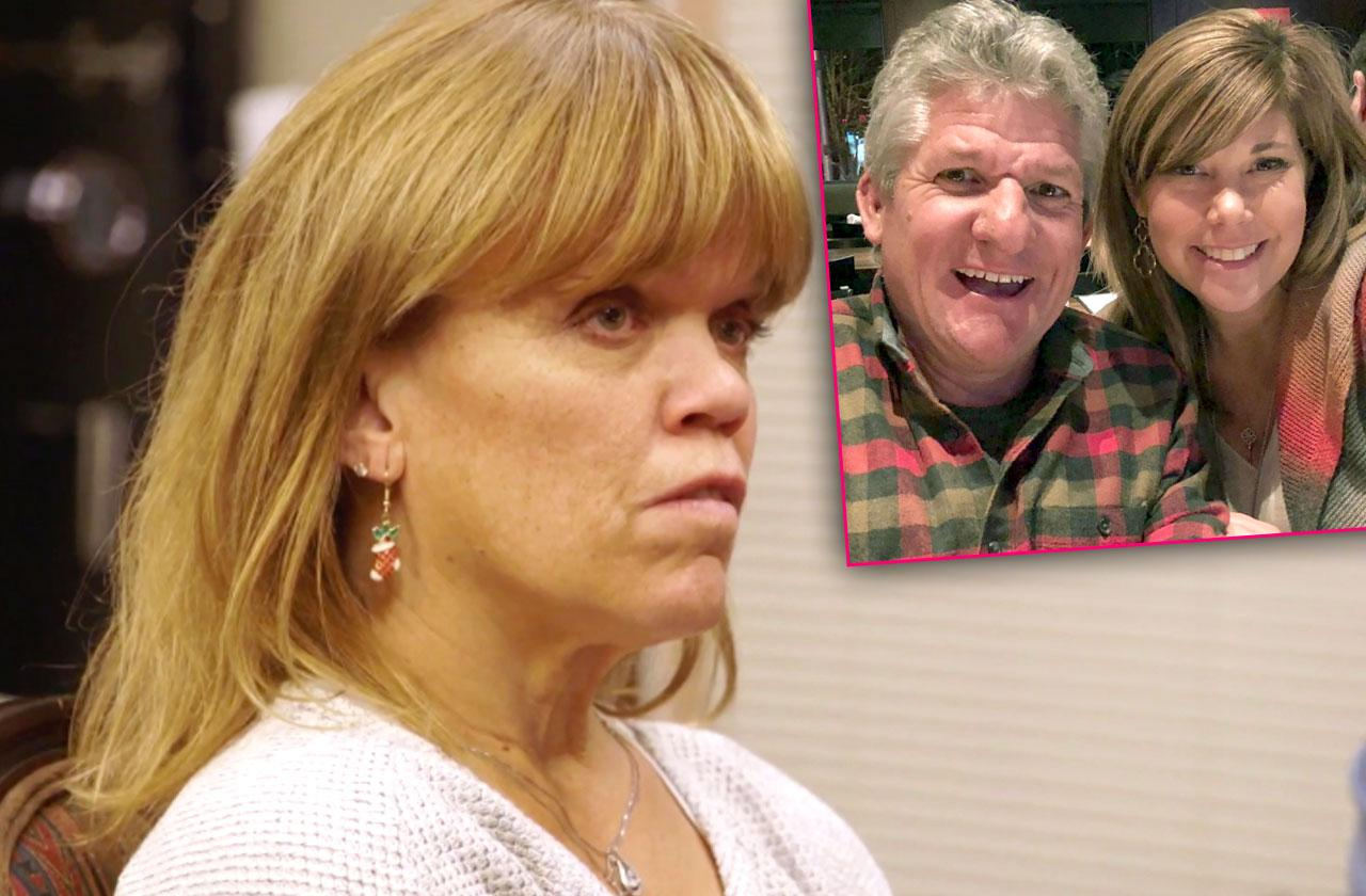 //amy roloff reflects on divorce while ex matt cuddles caryn chandler pp