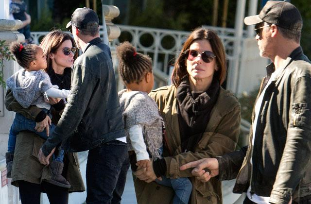Sandra Bullock Daughter Laila Bryan Randall Wedding Hold