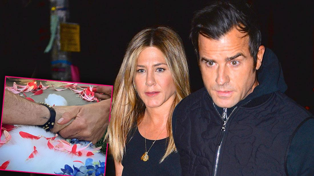 Justin Theroux & Jennifer Aniston Appear To Reunite As Dog Dies