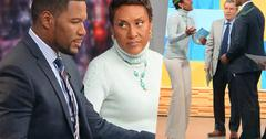 //michael strahan robin roberts on set gma confrontation pp