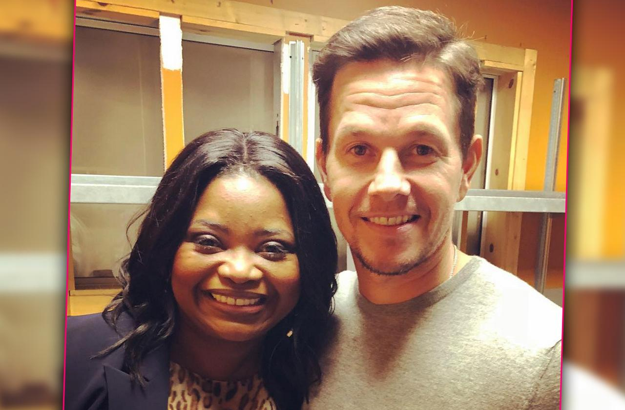 //Octavia Spencer Mark Wahlberg working out pp