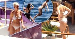 //Katy perry white bikini luxury yacht pp