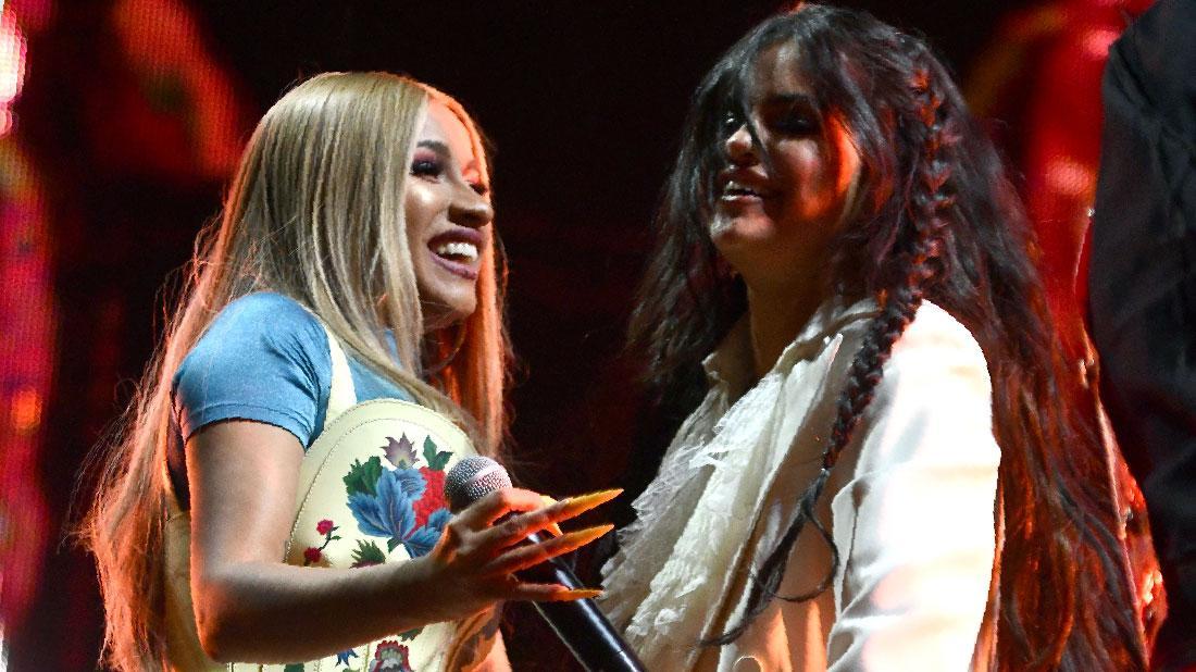 Selena Gomez Returns To Stage With Cardi B