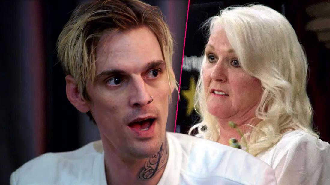 Aaron Carter Looking Right Photo Split With Mother