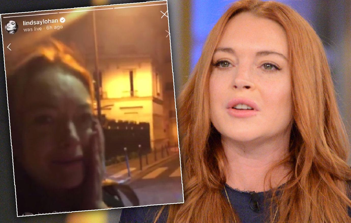 //lindsay lohan gets punched after accusing woman of trafficking kids pp