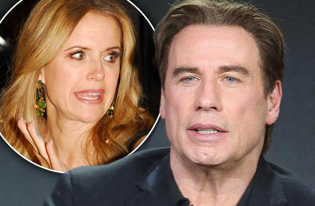 John Travolta Kissing Man Wife Kelly Preston