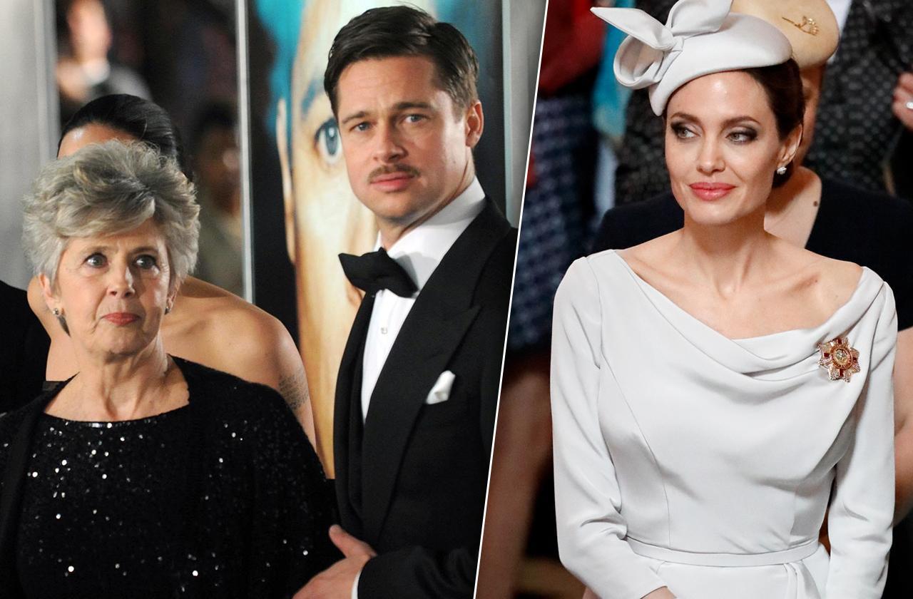 Brad Pitt Mom Jane Pitt Upset Angelina Jolie