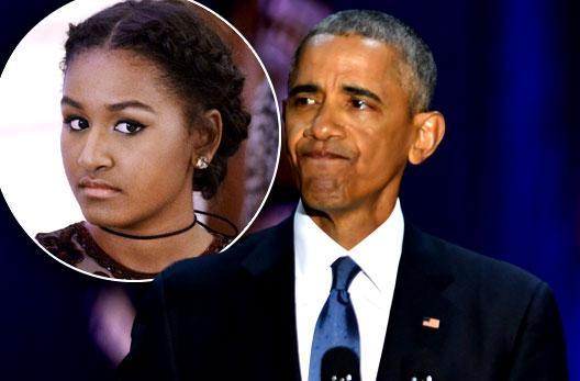 //barack obama daughter sasha misses farewell speech pp
